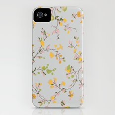 vintage floral vines - spring colors Slim Case iPhone (4, 4s)