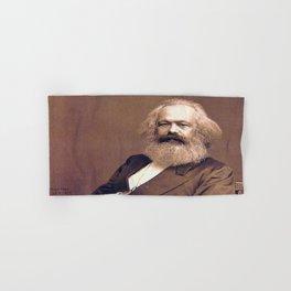 Portrait of Karl Marx by John Jabez Edwin Mayal Hand & Bath Towel