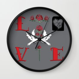 Love Vision Board Wall Clock