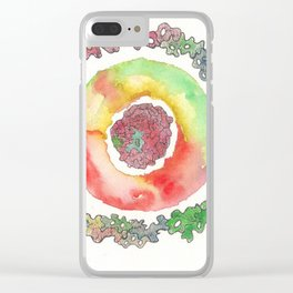 170321 Spring Watercolour 16 Clear iPhone Case