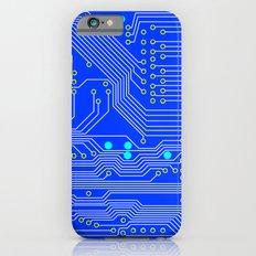 Blue Circuit Board  Slim Case iPhone 6