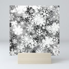 Snowflake Camo Mini Art Print