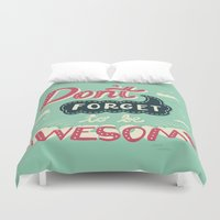risa rodil Duvet Covers featuring DFTBA by Risa Rodil