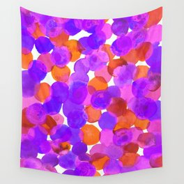 Watercolor Circles - Purple Red Orange Palette Wall Tapestry