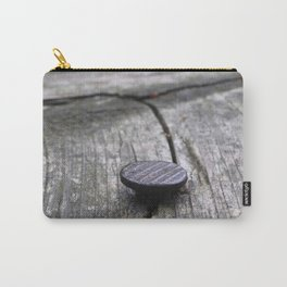 Nail and old wood Carry-All Pouch