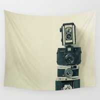 cassia beck Wall Tapestries featuring Camera Love by Cassia Beck