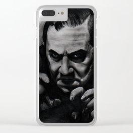 """Bella Lugosi """"Dracula"""" Clear iPhone Case"""