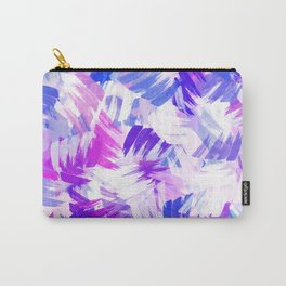 Abstract Purple Paint Pattern Carry-All Pouch