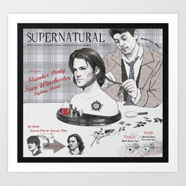Supernatural Toy Co. Slumber Party Sam Winchester Styling Head Art Print