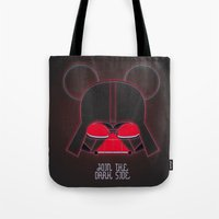 vader Tote Bags featuring Vader  by danvinci