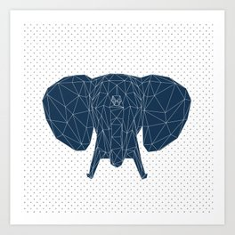 Faceted Elephant Art Print