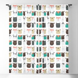 Cute Animals Blackout Curtain