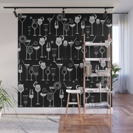 Retro Vintage Cocktail Pattern 3 Wall Mural