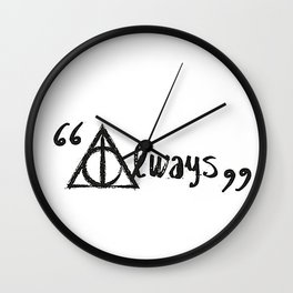 Always Deathly Hallows Wall Clock