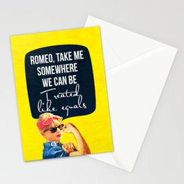 Romeo, take me Stationery Cards