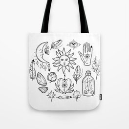 Bohemian magic alchemy print Tote Bag
