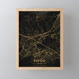 Espoo, Finland - Gold Framed Mini Art Print