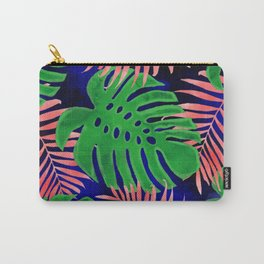 Plant green and coral Carry-All Pouch
