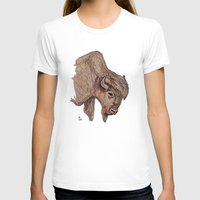 bison T-shirts featuring Bison by Ursula Rodgers