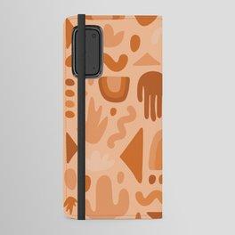 Orange Cutout Print Android Wallet Case