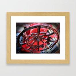 Caboose Brake Wheel Framed Art Print