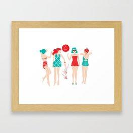 Beach Babes Framed Art Print