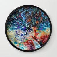 splatter Wall Clocks featuring Splatter by Stephen Linhart