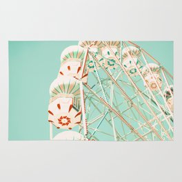 Blue and Red Ferris Wheel  Rug