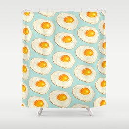 Egg Pattern - Blue Shower Curtain