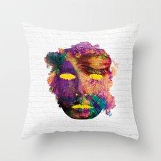 Holi Mask Throw Pillow