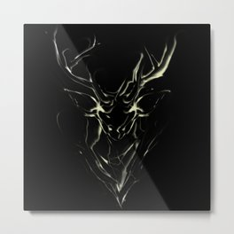 Smoke Deer Metal Print