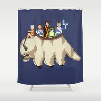 airbender Shower Curtains featuring The Gaang by NeleVdM