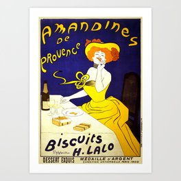 Vintage Amandines De Provence Biscuits Poster by Leonetto Cappiello Artwork for Prints Posters Tshir Art Print