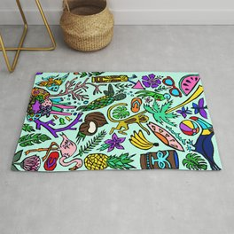 Tropics In Color Rug