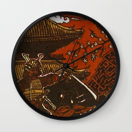 Essence: Samurai Wall Clock