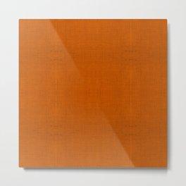 """Orange Burlap Texture Plane"" Metal Print"