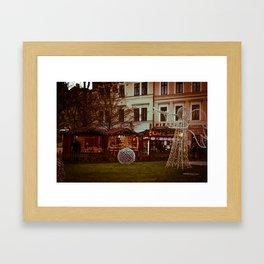 Prague Christmas Market Framed Art Print