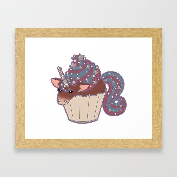 Cupcake Unicorn! Framed Art Print