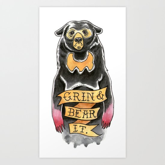 Grin and Bear It Art Print