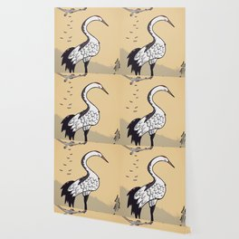 Sakura Crane Wallpaper
