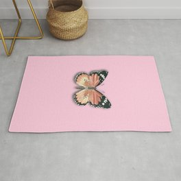 monarch butterfly pink Rug