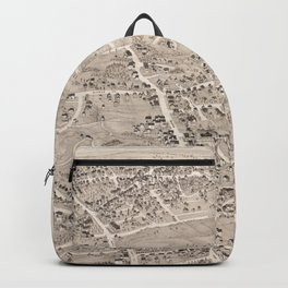Vintage Pictorial Map of Weymouth MA (1880) Backpack