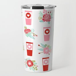 Coffee floral bouquet painted flowers for valentines day gifts coffee lovers must haves Travel Mug
