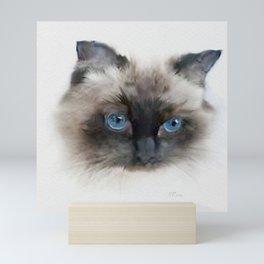 Samson: Persian Cat Portrait Mini Art Print