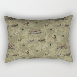 Safari Pattern Rectangular Pillow