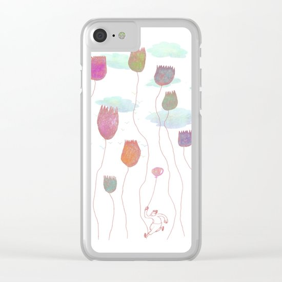 Run in the wild Clear iPhone Case