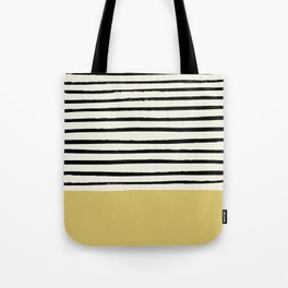 Daffodil Yellow x Stripes Tote Bag