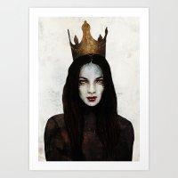 queen Art Prints featuring Queen by Feline Zegers