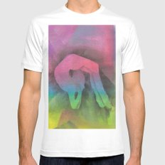 Contortionist MEDIUM White Mens Fitted Tee