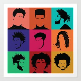 FOR COLORED BOYS COLLECTION COLLAGE Art Print